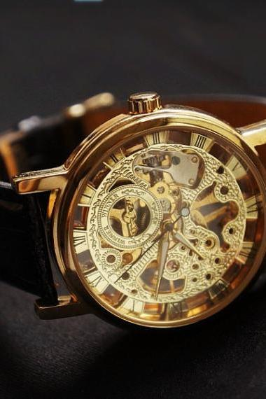 Steampunk Mechanical Men Watch